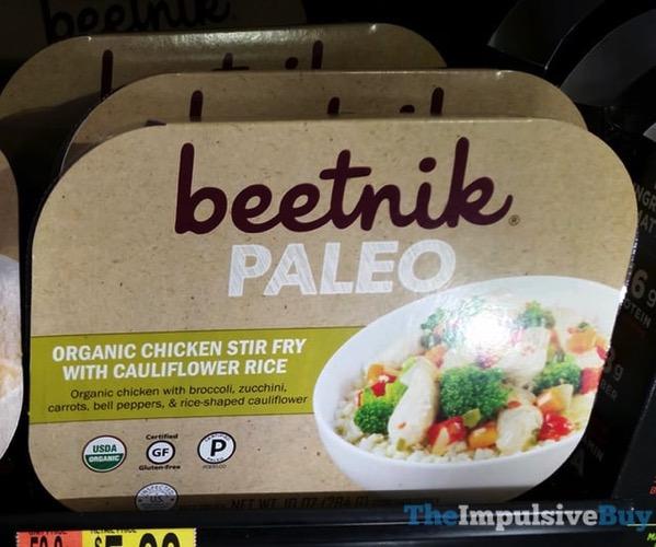 Beetnik Paleo Organic Chicken Stir Fry with Cauliflower Rice