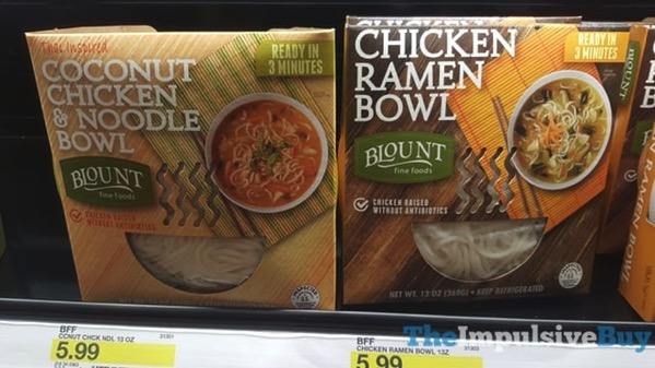 Blount Fine Foods Coconut Chicken  Noodle Bowl and Chicken Ramen Bowl