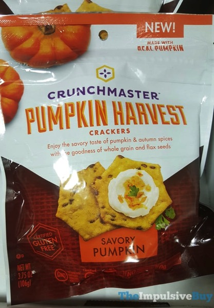 Crunchmaster Pumpkin Harvest Crackers