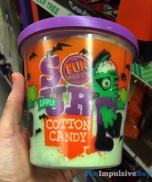Fun Sweets Halloween Sour Apple Cotton Candy