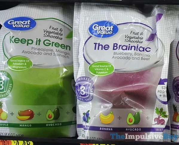 Great Value Fruit  Vegetable Smoothies  Keep It Green and The Brainiac