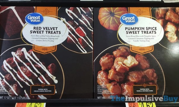 Great Value Red Velvet Sweet Treats and Pumpkin Spice Sweet Treats