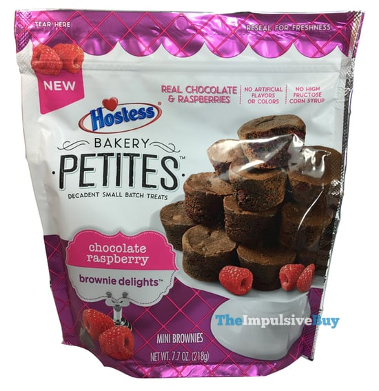 Hostess Bakery Petites Chocolate Raspberry Brownie Delights