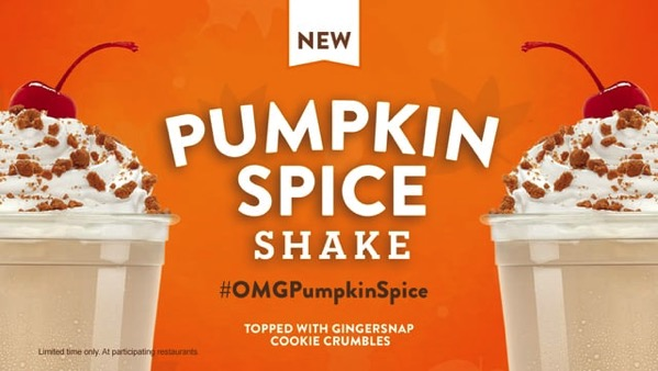 Jack in the Box Pumpkin Spice Shake  2017