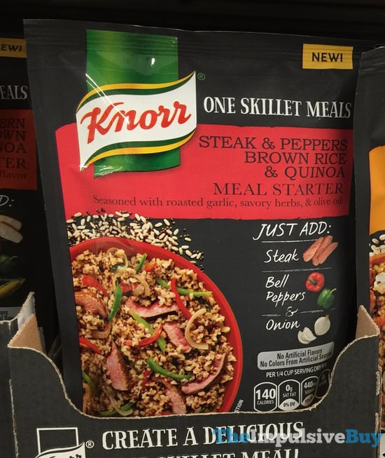 Knorr One Skillet Meals Steak Peppers Brown Rice Quinoa Meal