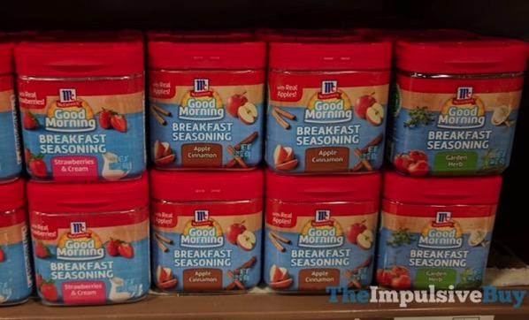 McCormick Good Morning Breakfast Seasonings  Strawberries  Cream Apple Cinnamon and Garden Herb