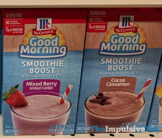McCormick Good Morning Smoothie Boosts  Mixed Berry and Cocoa Cinnamon