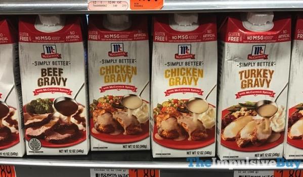 McCormick Simply Better Beef Gravy Chicken Gravy and Turkey Gravy