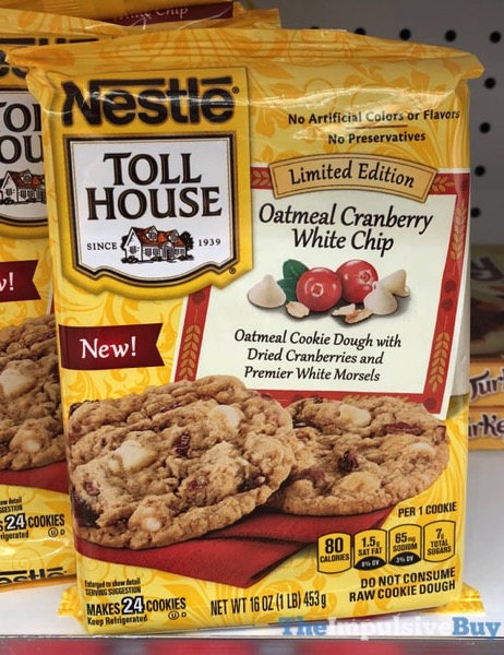 Nestle Toll House Limited Edition Oatmeal Cranberry White Chip Cookie Dough
