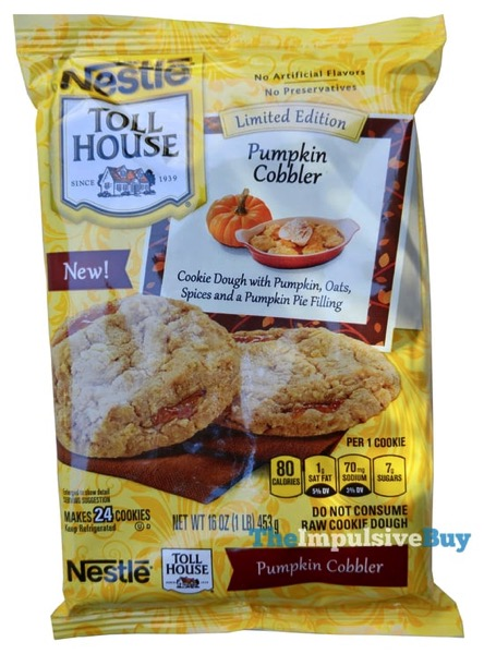 Nestle Toll House Limited Edition Pumpkin Cobbler Cookie Dough