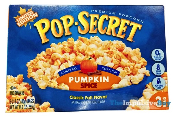 Pop Secret Limited Edition Pumpkin Spice Popcorn