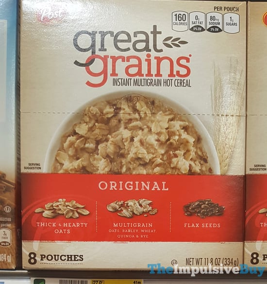 Post Great Grains Original Instant Multigrain Hot Cereal