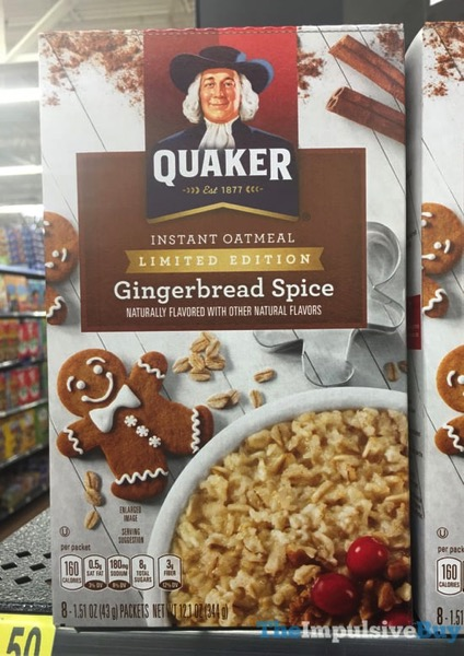 Quaker Limited Edition Gingerbread Spice Instant Oatmeal