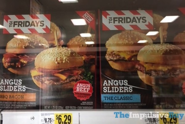 TGI Fridays Angus Sliders  BBQ Bacon and The Classic