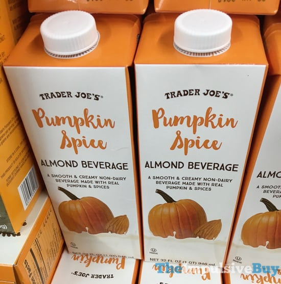Trader Joe s Pumpkin Spice Almond Beverage  2017