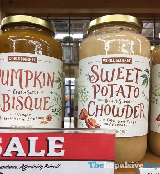 World Market Pumpkin Bisque and Sweet Potato Chowder