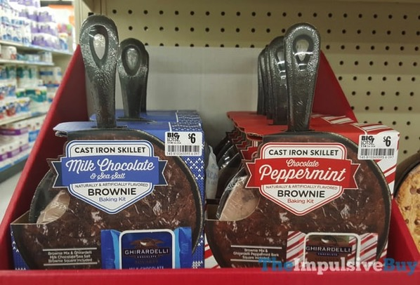 Ghirardelli Cast Iron Skillet Brownies  Milk Chocolate  Sea Salt and Chocolate Peppermint