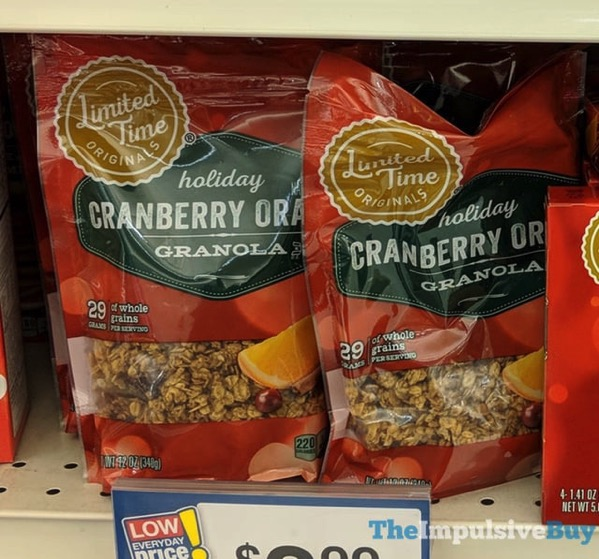 Giant Limited Time Originals Holiday Cranberry Orange Granola