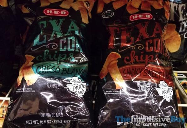 H E B Texas Corn Chips  Queso Blanco and Smoky Sweet Heat