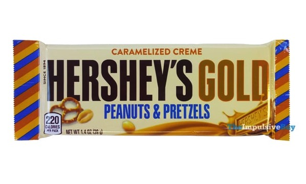 Hershey s Gold Peanuts  Pretzels Bar