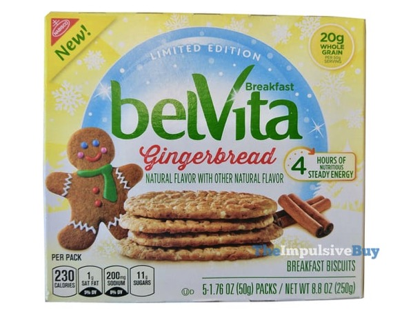 Limited Edition Gingerbread belVita Breakfast Biscuits