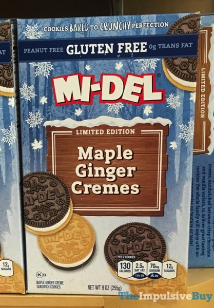 Mi Del Limited Edition Gluten Free Maple Ginger Cremes