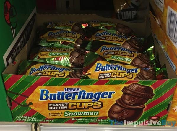 Nestle Butterfinger Peanut Butter Cups Snowman
