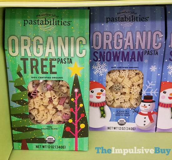 Pastabilities Organic Tree Pasta and Organic Snowman Pasta