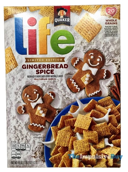 Quaker Limited Edition Gingerbread Spice Life Cereal