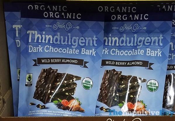 Sheila G s Organic Wild Berry Almond Thindulgent Dark Chocolate Bark