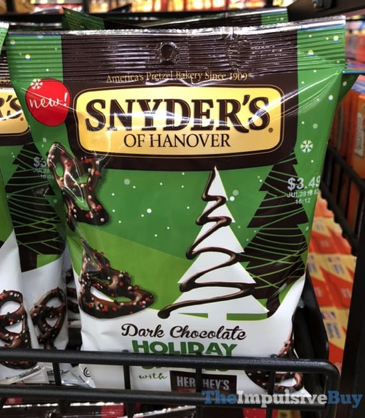 Snyder s of Hanover Dark Chocolate Holiday Pretzels with Hershey s Special Dark