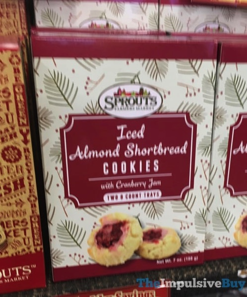 Sprouts Iced Almond Shortbread Cookies with Cranberry Jam