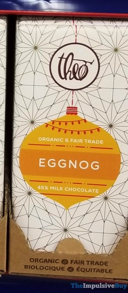 Theo Eggnog Milk Chocolate Bar