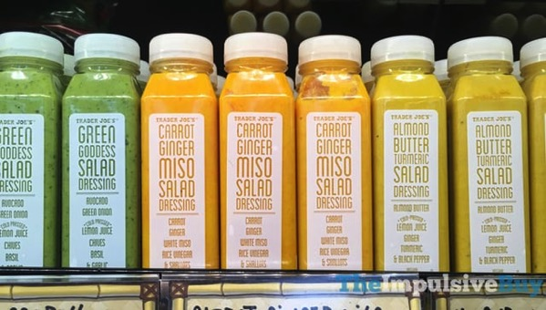 Trader Joe s Salad Dressings  Green Goddess Carrot Ginger Miso and Almond Butter Turmeric