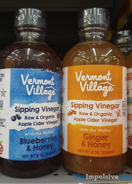 Vermont Village Sipping Vinegar  Blueberries  Honey and Ginger  Honey