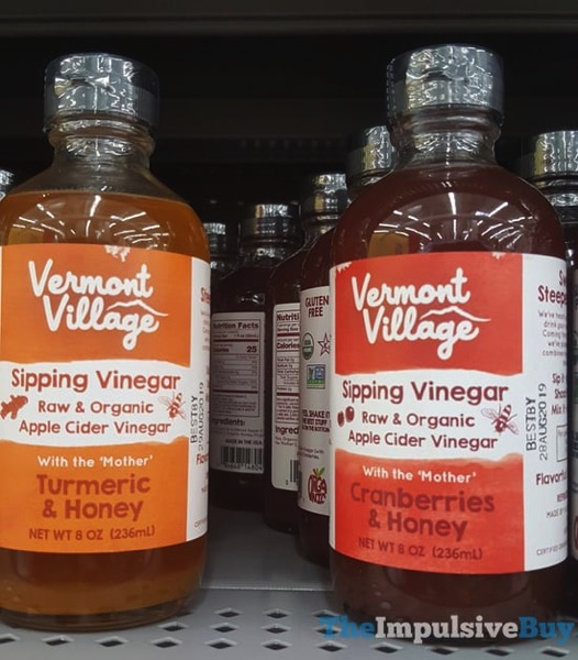 Vermont Village Sipping Vinegar  Termeric  Honey and Cranberry  Honey
