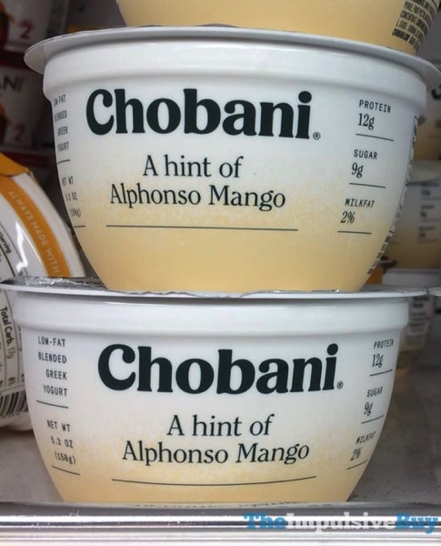 Chobani A Hint of Alphonso Mango Greek Yogurt