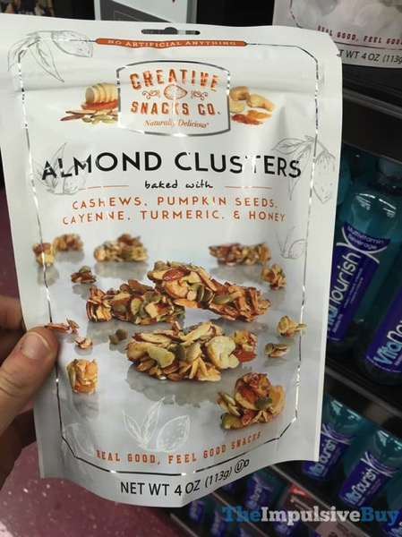 Creative Snacks Co Almond Clusters Baked with Cashews Pumpkin Seeds Cayenne Turmeric  Honey