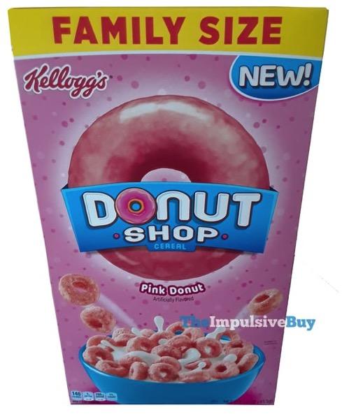 Kellogg s Donut Shop Cereal Pink Donut