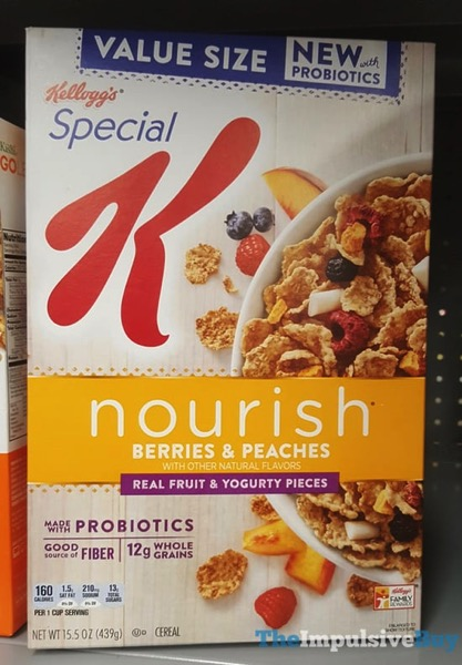 Kellogg s Special K Nourish Berries  Peaches with Probiotics