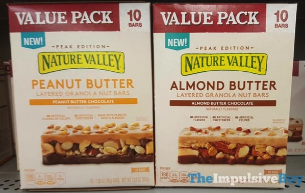 Nature Valley Peak Edition Layered Granola Nut Bars  Peanut Butter and Almond Butter