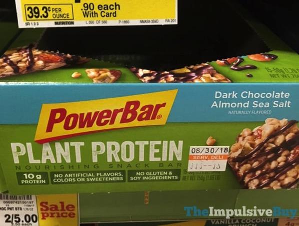 PowerBar Dark Chocolate Almond Sea Salt Plant Protein Snack Bar