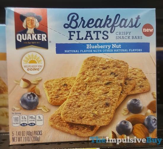 Quaker Breakfast Flats Blueberry Nut Crispy Snack Bars
