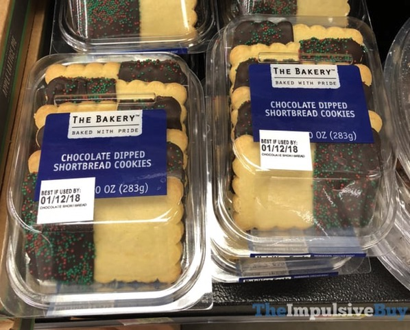 The Bakery Chocolate Dipped Shortbread Cookies