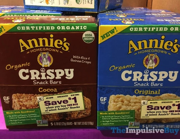 Annie s Homegrown Crispy Snack Bars  Cocoa and Original