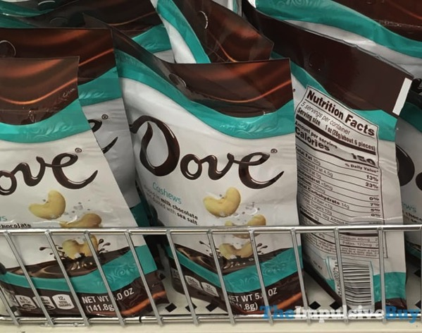 Dove Cashews Dipped in Milk Chocolate and Dusted with Sea Salt