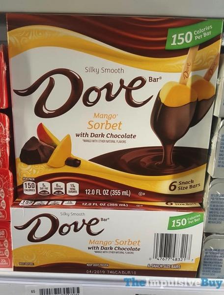 Dove Mango Sorbet with Dark Chocolate Snack Size Bars