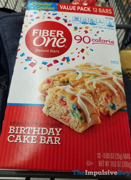 Tremendous Spotted On Shelves Fiber One Limited Edition Birthday Cake Baked Personalised Birthday Cards Veneteletsinfo