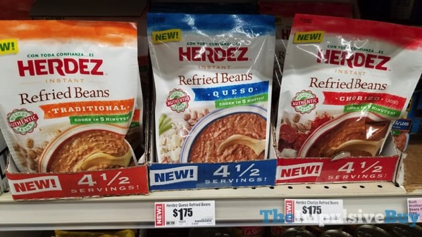 Herdez Instant Refried Beans  Traditional Queso and Chorizo