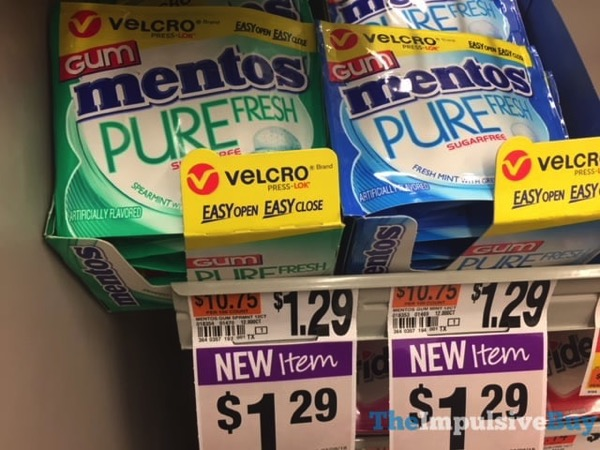 Mentos Purefresh Gum with Velcro Packaging